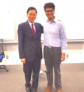 Syed with Former Prime Minister Hatoyama