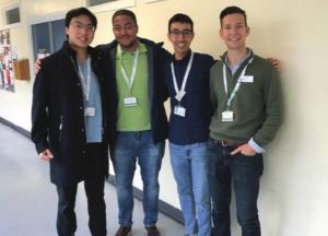 Mahmoud and friends at NHS John Radcliffe Hospital
